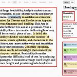 Readability Analysis