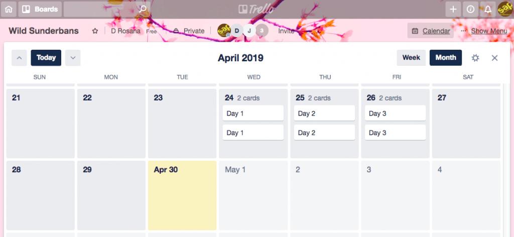 fig7-Trello for Project Management~Power-Ups Calendar