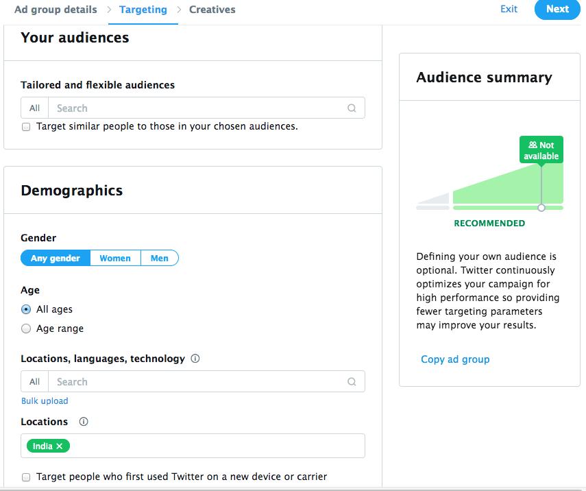 fig8–Audience Setup~Demographics
