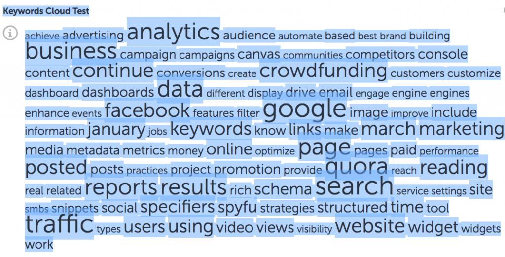 fig1-Website Audit~Keywords Cloud Test